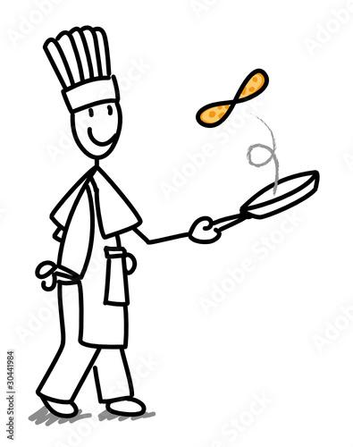 Crepes dessin anime tableaux sur toile tableaux et - Dessin cuisinier humoristique ...