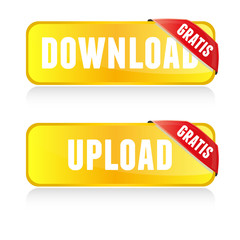 Web Buttons Download Upload