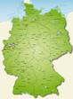 Deutschland Übersichtskarte grün 40cm x 52cm