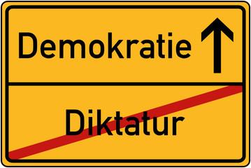 Ortstafel Diktatur und Demokratie