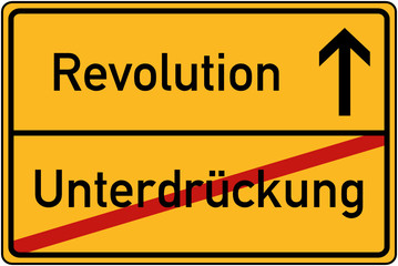 Ortstafel Unterdrückung und Revolution