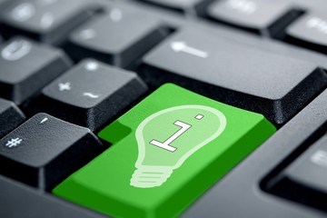 Information Licht grüne Taste