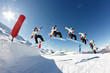 sequence saut snowboard