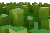 abstract green city - 30444517