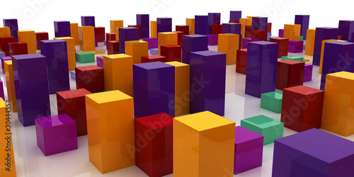 abstract colorful city - 30444553