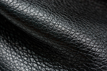 Old leather, black chamois texture