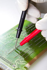 engineer repairing computer hardware