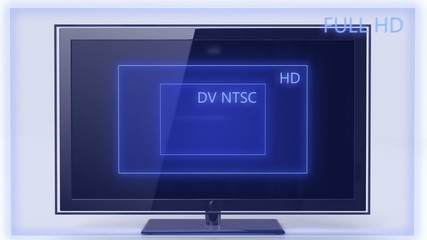 Aspect ratio comparation NTSC to FULL HD