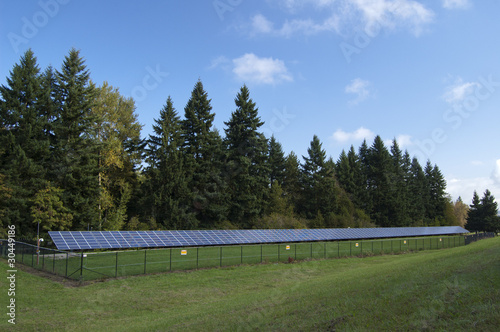 Solar panel installation along a highway in Oregon
