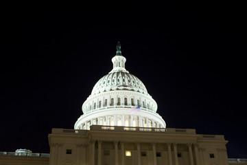 US Capitol Building Dome Night Washington DC USA