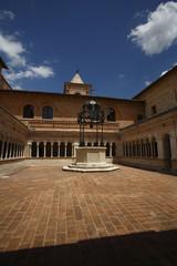Foligno, abbazia di Sassovivo, il chiostro