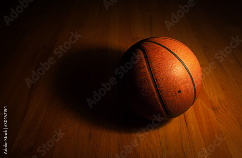 Basketball with spot light