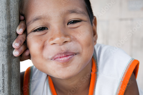 Smiling Philippine Asian boy