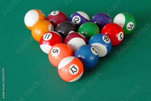Staande foto Billiards balls