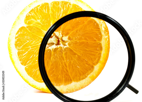 circular polarizing and orange fruit