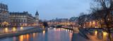 Paris - view from Pont Neuf bridge at night - 30453941