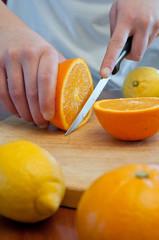 couper des fruits