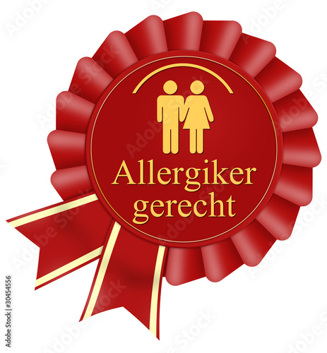 allergikergerecht button icon allergie rot schleife