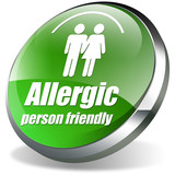 allergic person friendly 3d poster