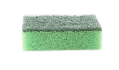 Single green sponge