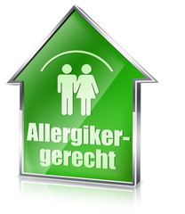 allergikergerecht button icon allergie 3d haus