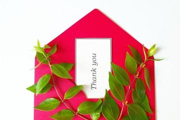 感謝の手紙と葉