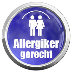 allergikergerecht button icon allergie blau weiß wolke