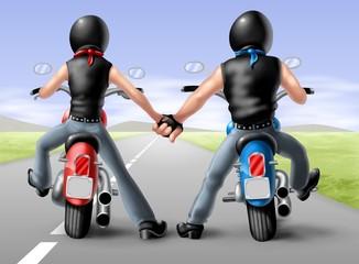 coppia bikers 2