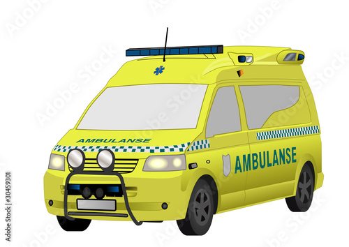 Yellow Norwegian ambulance