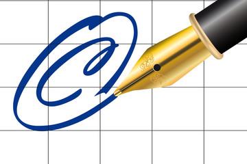 Schreiben Copyright