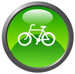 Bike glossy icon