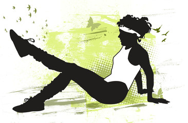 Mujer haciendo gimnasia