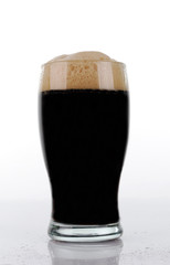 Brown beer glass