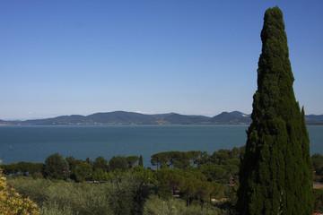 Castiglione del Lago, vista del Trasimeno