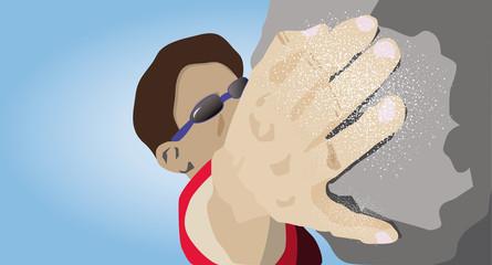Rock Climber. vector illustration