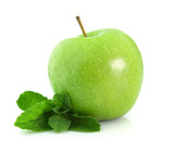 Apple with mint