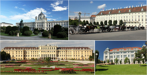 Schonbrunn Palace and Gardens - Vienna (collage)