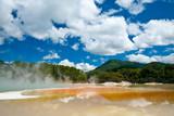 Frying Pan Flat pool at Wai-O-Tapu geothermal area poster