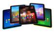 Leinwanddruck Bild - Set of color tablet computers