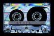 Leinwanddruck Bild - Photoelasticity birefringence cassette tape