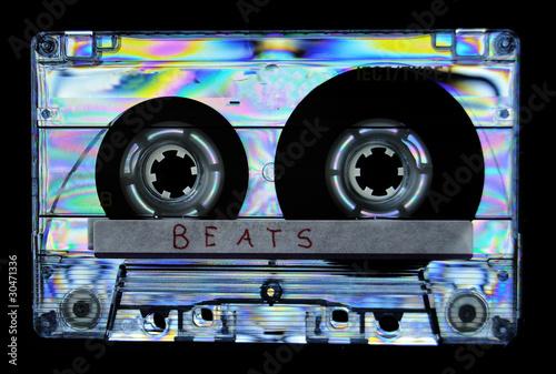 Leinwanddruck Bild Photoelasticity birefringence cassette tape