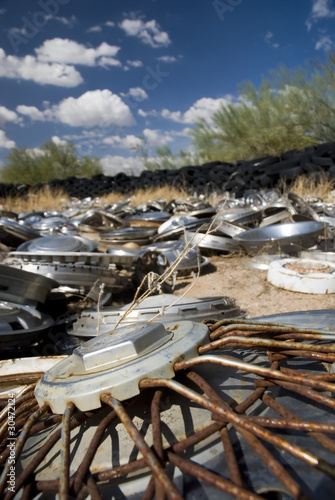 Field of Hubcaps