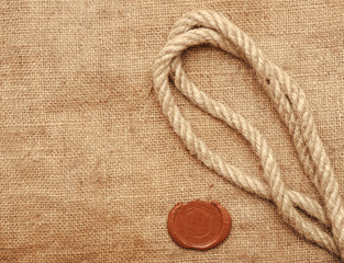 wax seal and rope