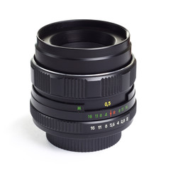 m42 50mm fixed vintage lens isolated