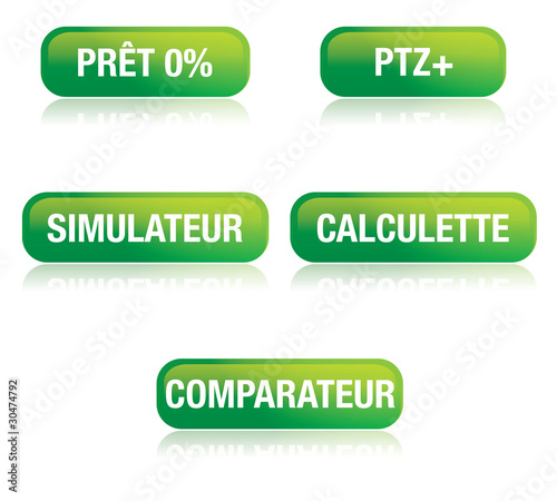 set de pictos web : comparateur, simulateur, ptz+, de prix