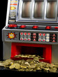 Slot Machine with a lot of coins