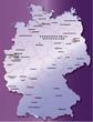 Deutschland Übersichtskarte flieder 40cm x 52cm