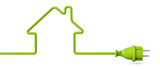 Green power plug - house