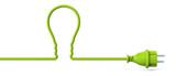 Green power plug - light bulb