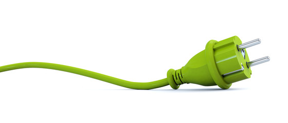 Green power plug - curve